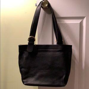Vintage Black leather Coach Shoulder Bag